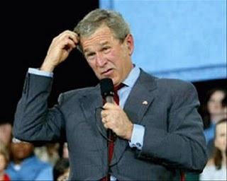 Confused George W Bush